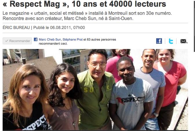 Le parisien fête les 10 ans de respect mag marc cheb sun